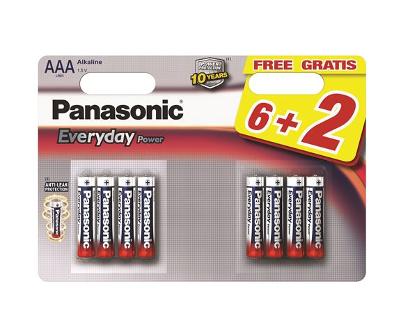 PANASONIC baterije LR03EPS8BW-AAA 8kom Alkalne Everyday