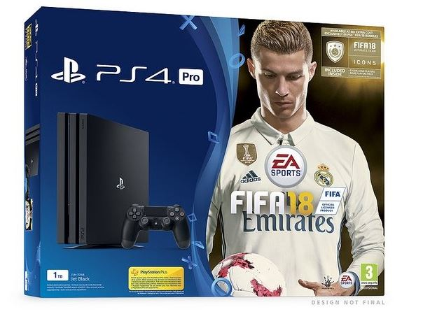 Sony PlayStation 4 PRO 1TB + Fifa 18 Deluxe edition