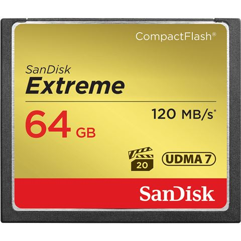 COMPACT FLASH CARD 64GB Sandisk Extreme SDCFXSB-064G-G46