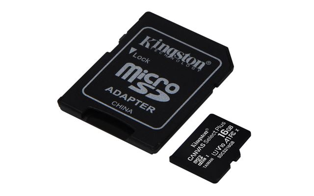 MICRO SD 16GB KINGSTON + SD adapter SDCS216GB
