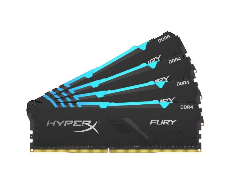 KINGSTON DIMM DDR4 64GB (4x16GB kit) 2400MHz HX424C15FB3AK4/64 HyperX Fury RGB