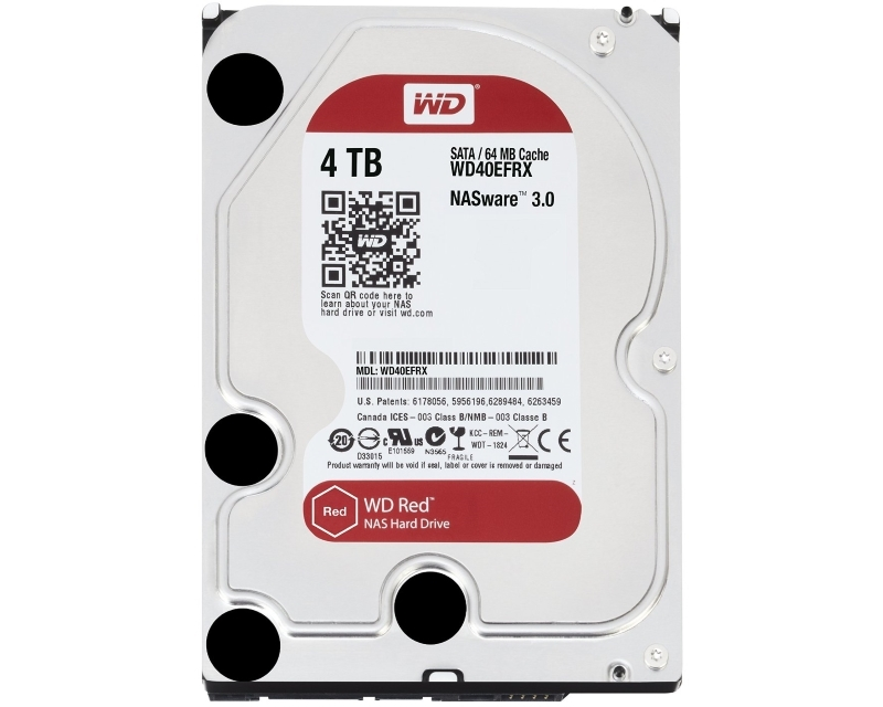 WD 4TB 3.5 SATA III 64MB IntelliPower WD40EFRX Red